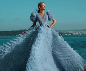 azul, belleza, and moda image