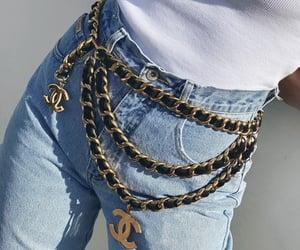 belt, chanel, and fashion image