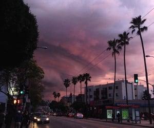 sky, purple, and city image