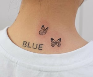 tattoo, gidle, and butterfly image