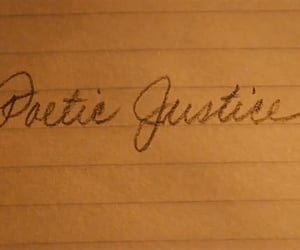 film, movie title, and poetic justice image