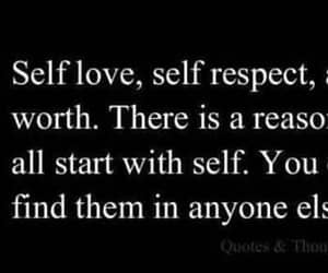 self love, self worth, and self respect image