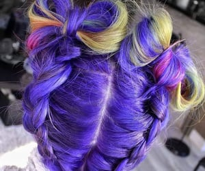 buns, hair color, and violet hair image