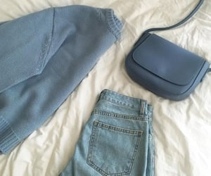 aesthetic, blue, and clothes image