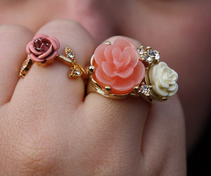 rings, flowers, and ring image