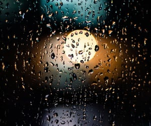raindrops, rain, and window image
