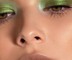 eyeshadow, aesthetic, and green image