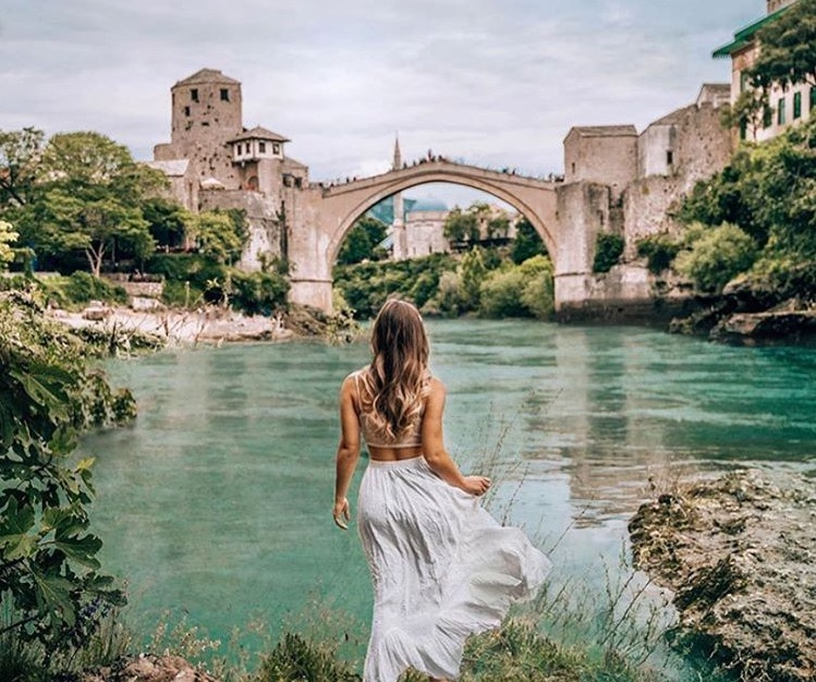 beautiful, girl, and mostar image