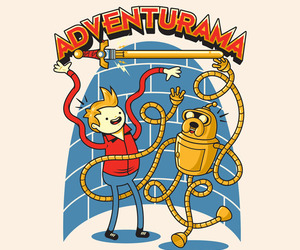adventure time, finn, and futurama image