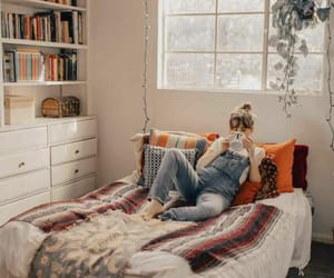bed, girl, and no place like home image