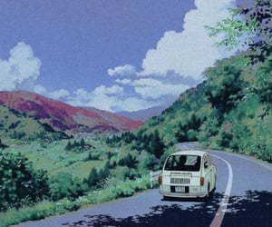 anime, wallpaper, and car image
