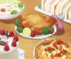 anime, foods, and anime animation image