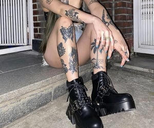 black clothes, edgy, and grunge image