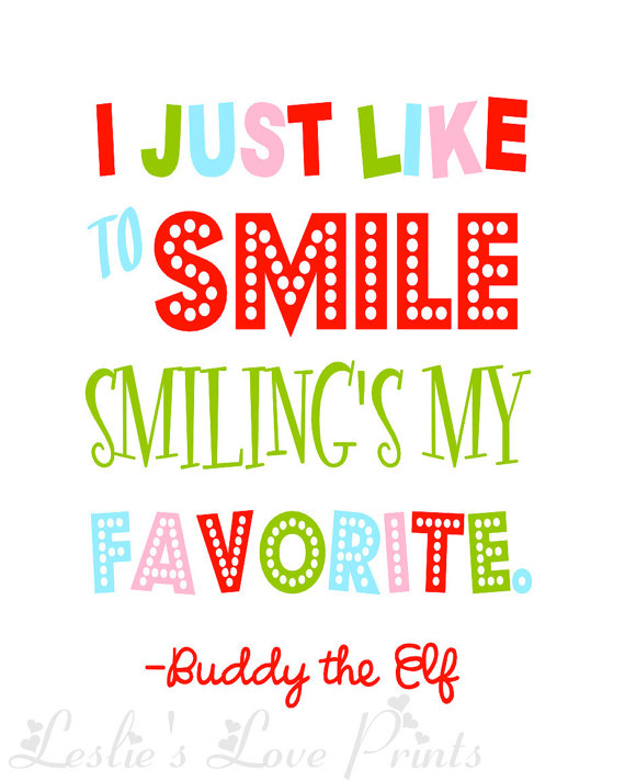 Buddy The Elf Quote By LeslieLovePrints On Etsy Unique Elf Quotes