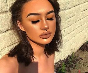 eyebrows, lipstick, and eye lash image