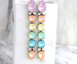 bridal jewelry, chandelier earrings, and swarovski earrings image