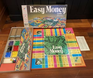 etsy, vintage board game, and easymoney image