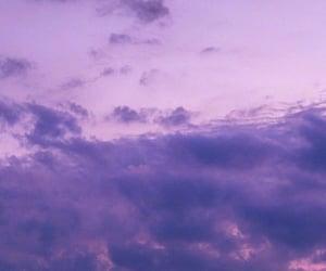 purple, sky, and moon image