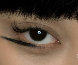 Black Eyeliner, makeup, and brown eye image