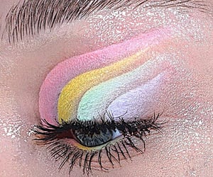 eyeshadow, soft, and filtered image