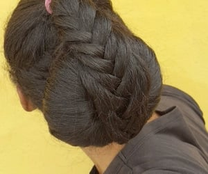 beautiful, style, and fishtail braids image