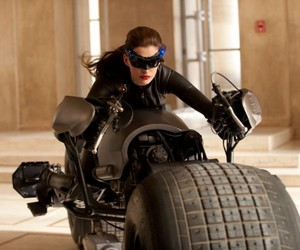 Anne Hathaway, catwoman, and batman image