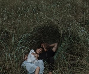 couple, grass, and nature image