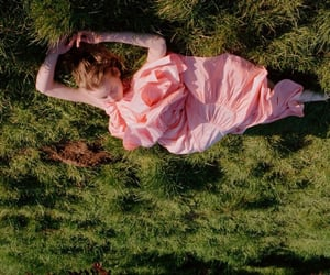 girl, pink, and sleeping girl image