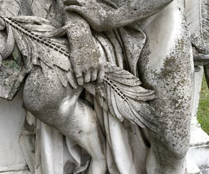 cementery, sculpture, and white image