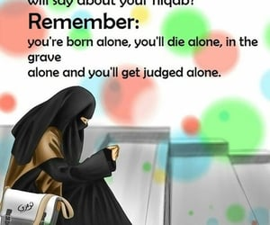 afraid, hijab, and quotes image