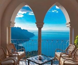 adventure, Amalfi coast, and balcony image