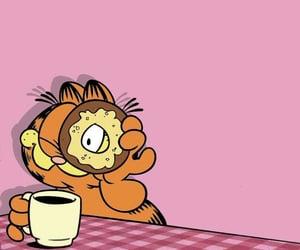 cartoon, coffee, and garfield image