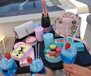 luxury, drink, and food image