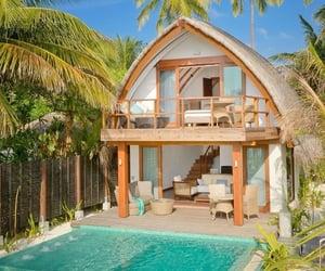Maldives, summer, and house image