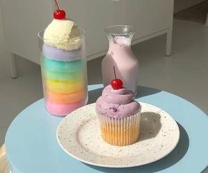 cherries, cupcake, and pastel image