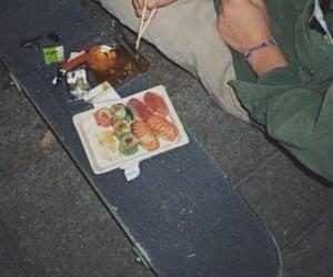 sushi, grunge, and aesthetic image