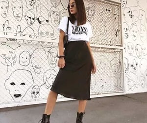 aesthetic, grunge, and skirt image