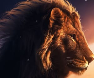 cat, lion, and wallpapers image