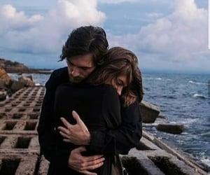 sea, couple, and love image