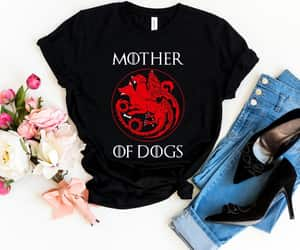 etsy, gift for dog lover, and dog mama shirt image