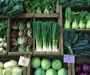 food, vegetables, and green image