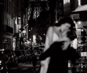 black and white, paris, and love image