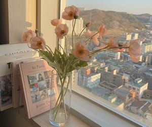 aesthetic, flowers, and city image
