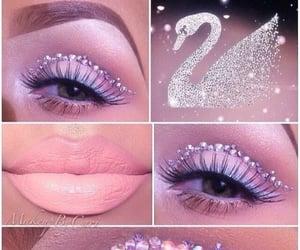 crystals, eyeshadow, and lipstick image