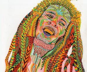 bob marley, color, and reggae image