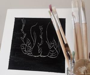 art, back, and black image