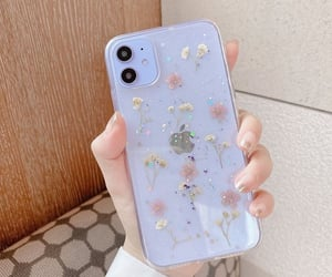 baby blue, case, and flowers image