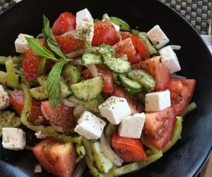 lunch, salad, and diet image