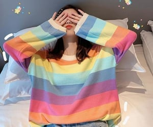 aesthetic, rainbow, and asian image