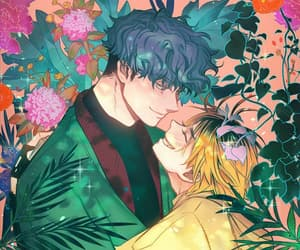 bl, flowers, and yaoi image